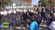 Митинг след експлозиите в Турция
