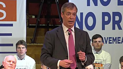 UK: 'No more Mr. Nice Guy' - Farage tells supporters to prepare for second Brexit referendum