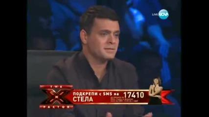 Страхотното изпълнение на Стела Петрова в X - Factor 04.10.11