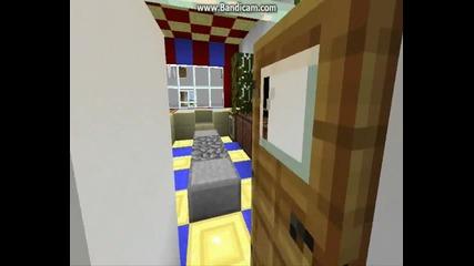 Minecraft Модерна къща 3 напълно обзаведена