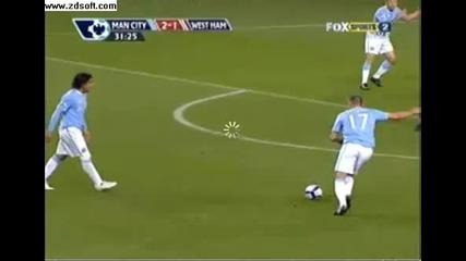 Martin Petrov goal vs. West Ham United 2 - 1
