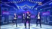 2ne1 - Go Away + Cant Nobody ~ Music Bank - sep. 17.10