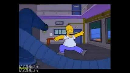 Homer Flintstone Симсън Много Смях