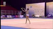 Сара Стайкова - бухалки - Световна купа по художествена гимнастика - София 2015