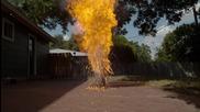 Запалване на 6 000 кибритени клечки - Забавен кадър