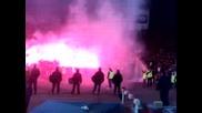 Левски - Ц С К А - Проблемът сте вие! Ще го решим ние! Факли + Кръвта! *01.11.2008г.*