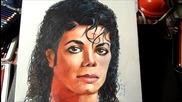 Рисуване На Краля На Попа Майкъл Джексън