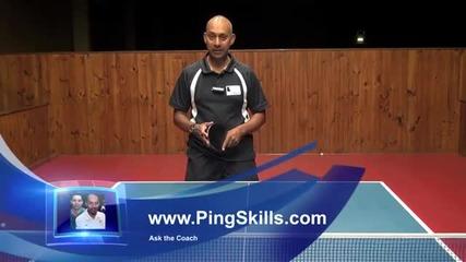Уроци по тенис на маса - Повече дъговидно движение при сечене