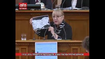 Правителството оцеля, Атака гласува против Борисов /19.02.2016 г./