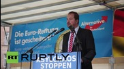 Germany: Right-wing AfD face-off against pro-refugee activists in Nuremberg