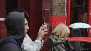 UK: PETA activists demonstrate outside London Fashion Week event in Soho