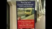 Рекорд на гинес - Мъж дърпа 300 тонен влак със зъбите си !!