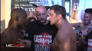 Боксьор целуна противинка си по бузата и едва не си изяде пердаха