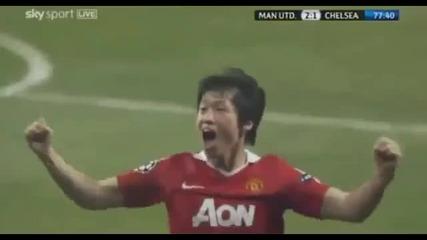 Manchester United - Chelsea (2 - 1) - Park Ji - Sung Goal Hd
