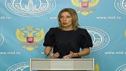 Russia: There is a problem of media security in Ukraine - Zakharova