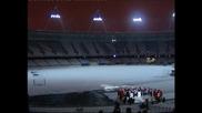 Светлините на Олимпийския стадион в Лондон бяха запалени