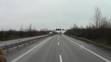 По А14 преди Магдебург