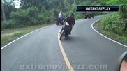 Моторист и Атв-челен удар