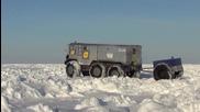 Руска универсална машина за Северния полюс мина първи тест