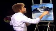 S04 Радостта на живописта с Bob Ross E03 - величествена планина ღобучение в рисуване, живописღ