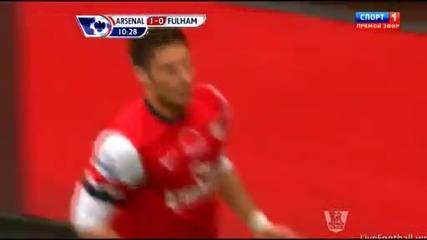 Ареснал - Фулъм 3:3, 2 гола и асистенция на Бербатов!
