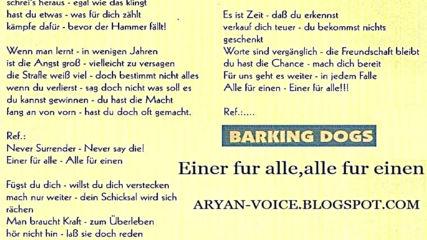 Barking Dogs - Einer Fur alle, alle Fur einen.