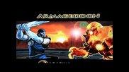 Mortal Kombat Armageddon Sub-zero Vs Blaze Playstation 2