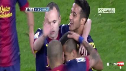 Барселона с победа и без Меси, Сеск с първия си хеттрик, и дългоочаквания и специален момент Абидал