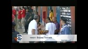 Мишел Платини на мач в чест на Джовани Аниели