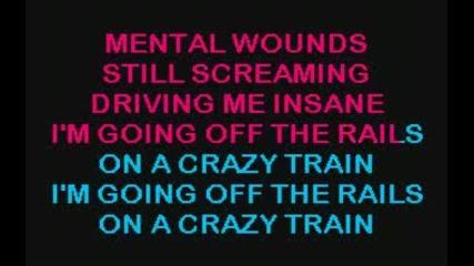 Ozzy Osbourne Crazy train - karaoke