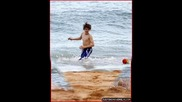 Justin Bieber On The Beach
