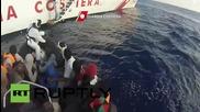 Italy: Coast Guard intercepts 408 migrants off Libyan coast