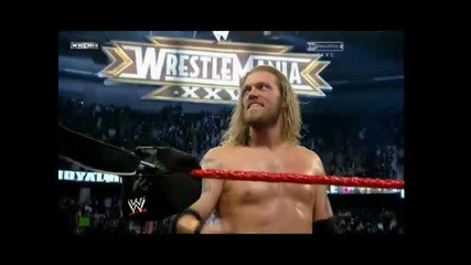 Edge go to the Wrestlemania 26 Music Video