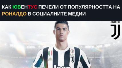 Как Ювентус печели от популярността на Роналдо в социалните медии