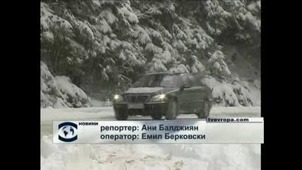 Първи сняг в Пловдив, засега без проблеми (видео)