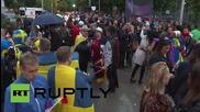 Austria: Vienna gets in the Eurovision spirit with wacky fancy dress