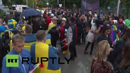 Austria: Vienna gets in the Eurovision spirit with wacky fancy dress