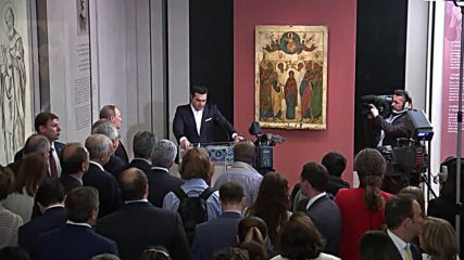 Greece: Putin and Tsipras inaugurate exhibition at Byzantine Museum