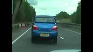 Subaru Impreza Wrx Sti (на главен път) - огнехвъргачка