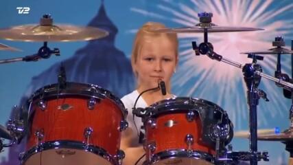 10 Year Old Drummer Johanne Astrid - Winner Of Denmark s Got Talent 2017 Compilation