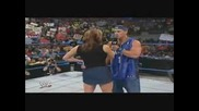 John Cena Удря Дупето На Stephanie Mcmahon