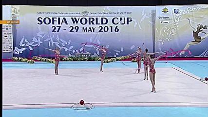 Златен медал за България - ленти - Световна купа по художествена гимнастика - София 2016