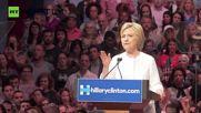 Clinton Celebrates Victory Upon Reaching Delegate Milestone