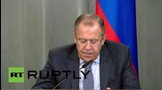 Russia: Lavrov says Russia to use 'all available means' to defend itself after Metrojet terror attack