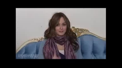 Leighton Meester For Seventeen.coms Set Visit
