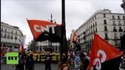 Служители на Кока Кола протестират в Испания против несправедливата политика на компанията
