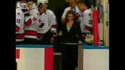 Girl Humiliates Herself At Ice Hockey Game