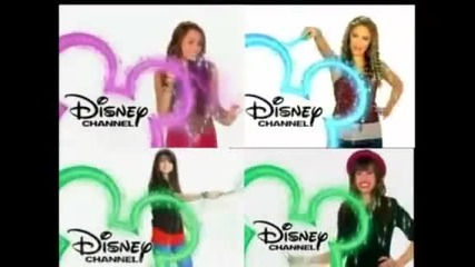 Emily, Miley, Demi and Selena- Your Watching Disney Channel