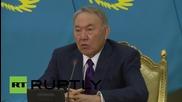 Kazakhstan: President Nazarbayev hails landslide win after re-election