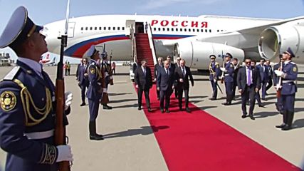 Azerbaijan: Putin arrives in Baku for trilateral meeting with Aliyev and Iran's Rouhani
